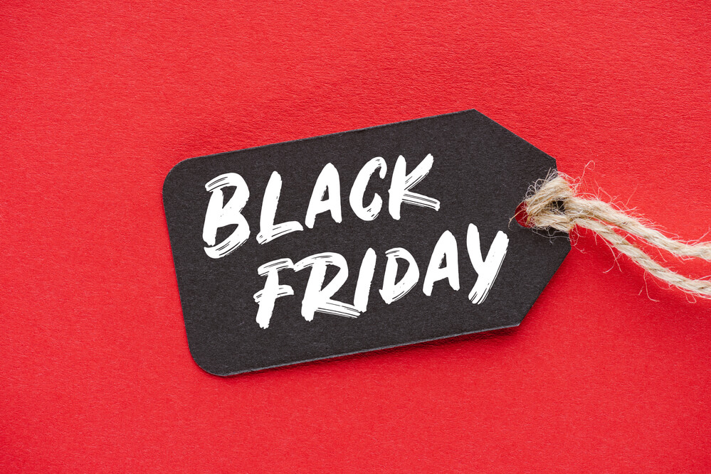 """The words """"Black Friday"""" written on a black tag"""