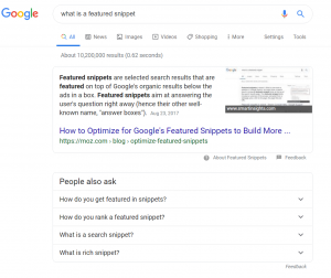 A screenshot of a featured snippet on Google's search engine result page