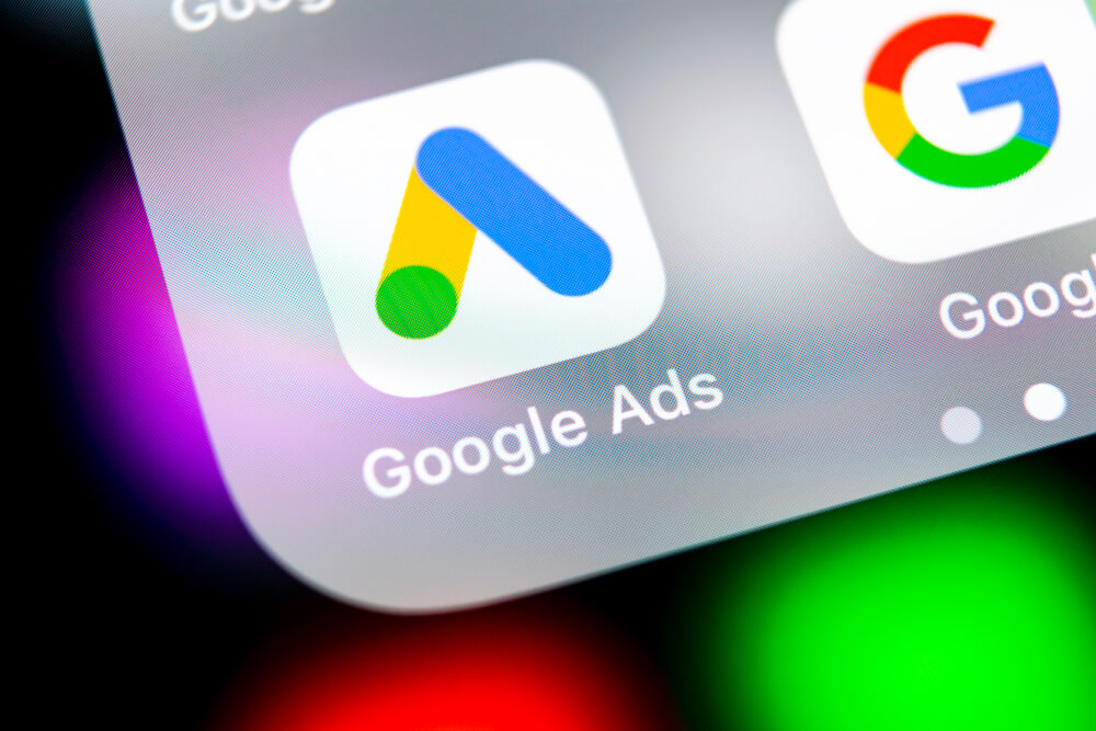 The Google Ads app icon displayed on a phone