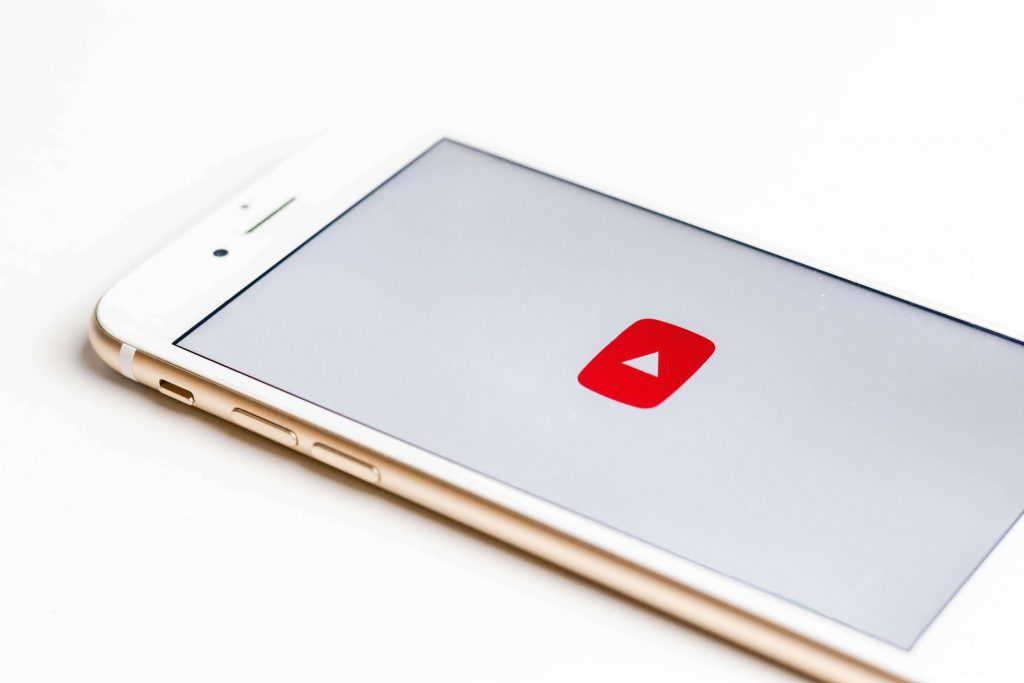 The YouTube app loading on a smartphone