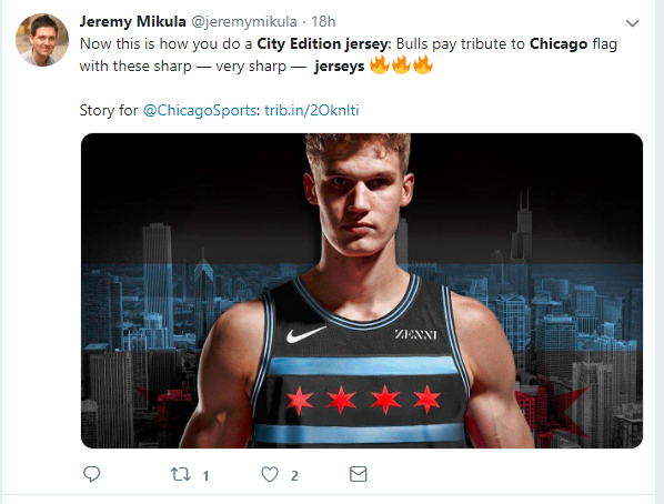 basketball player in new chicago bulls jersey
