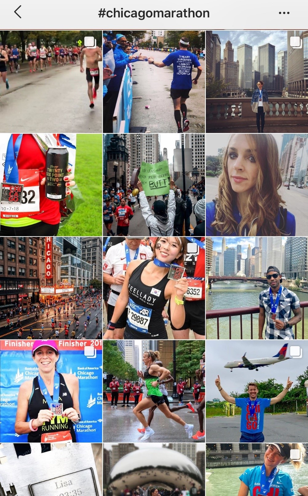 collection of photos from chicago marathon