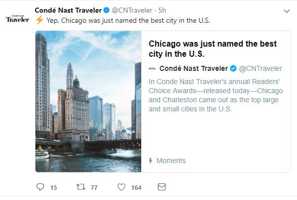 conde nast traveler chicago post