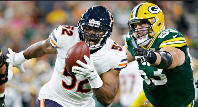 chicago bears and green bay football players