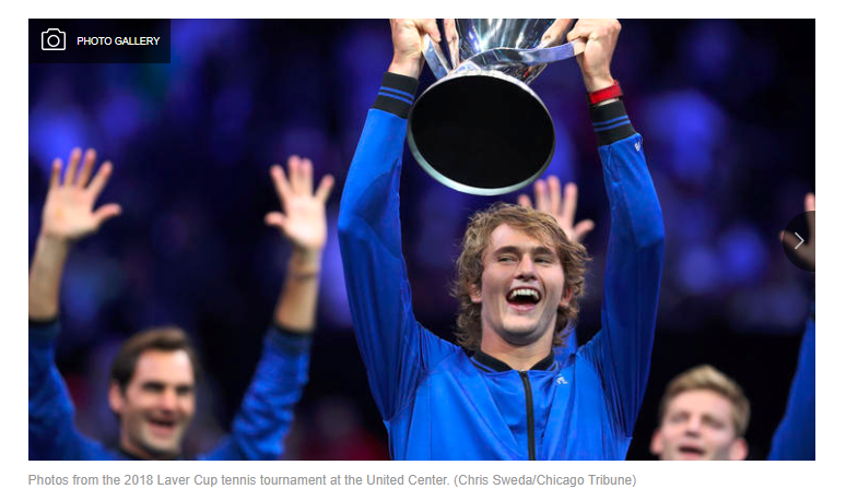 tennis champion with award