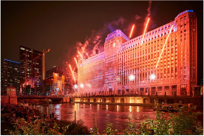 Merchandise Mart Light Show