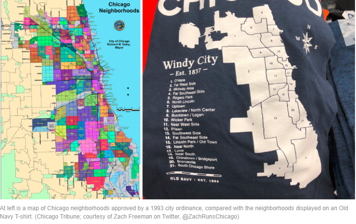 Old Navy Chicago Map Shirt