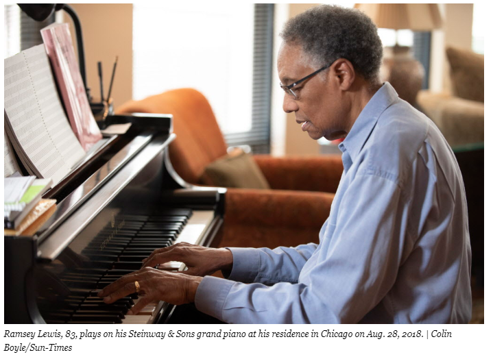 Ramsey Lewis at his piano